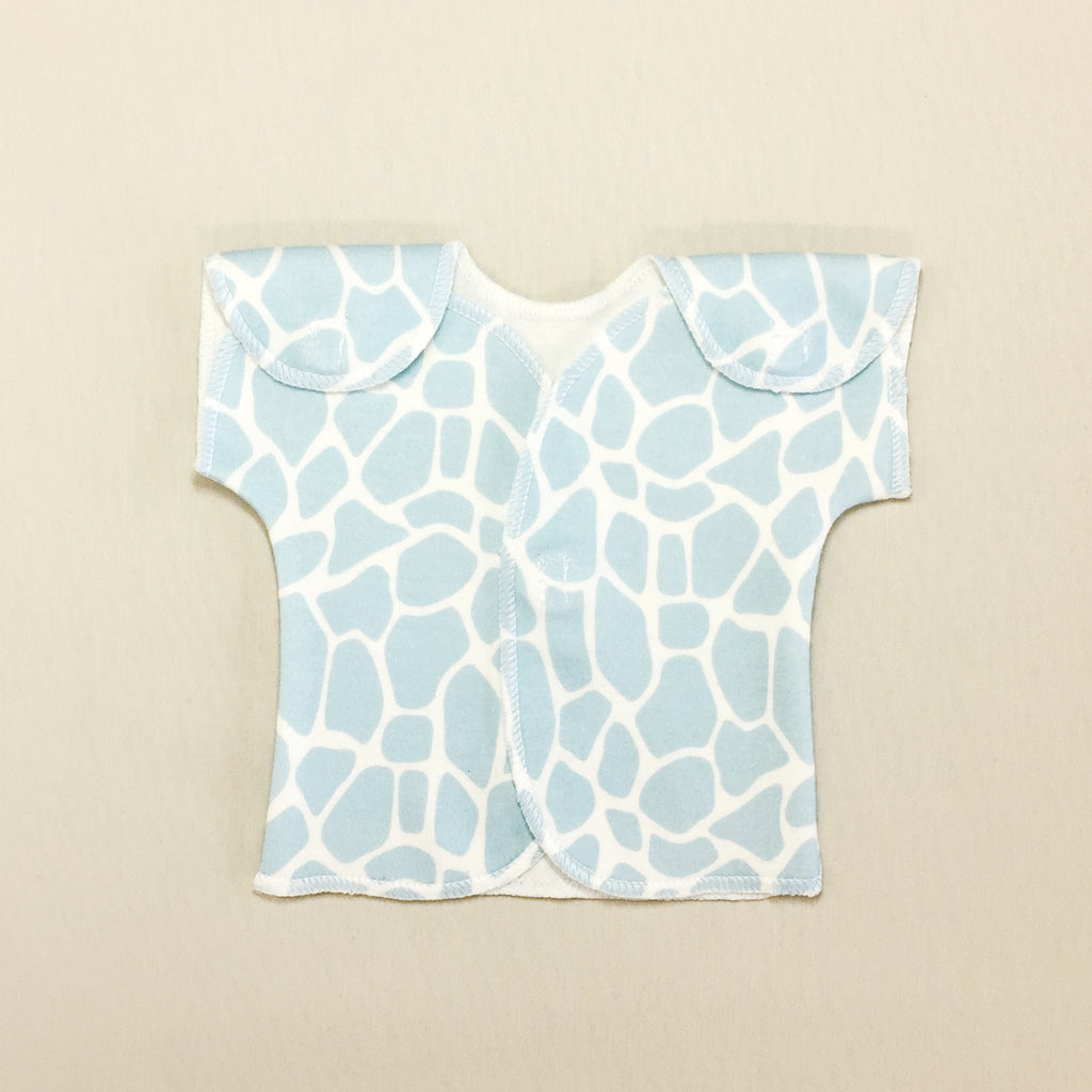 fede18da0 NICU Friendly T-Shirt Giraffe Blue