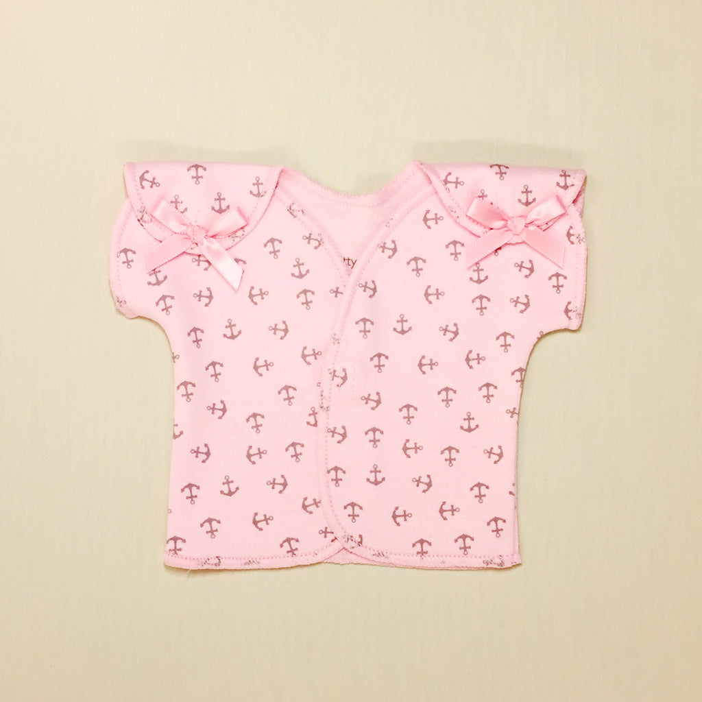 NICU adapted shirt for micro preemie