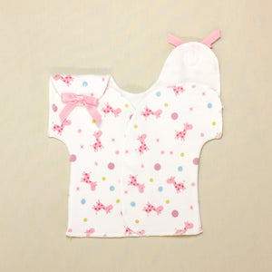 NICU Friendly T-Shirt Giraffe Bubble Pink