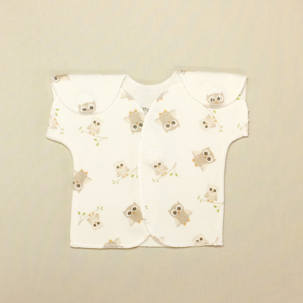 NICU adapted baby shirt for micro preemie baby