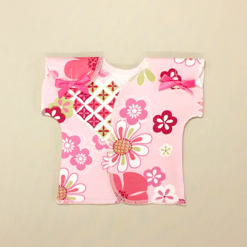 Neonatal intensive care unit adapted shirt for micro preemie baby
