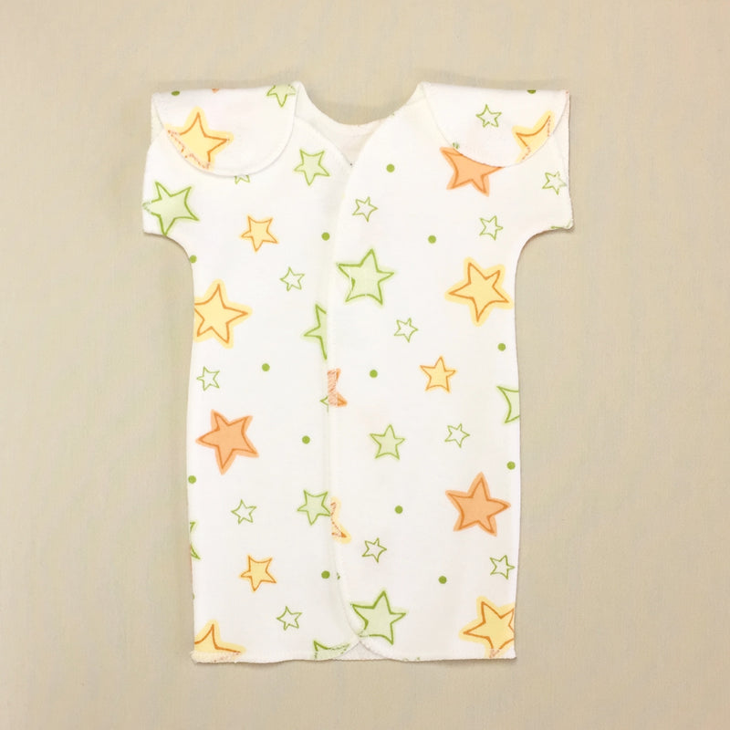 cotton NICU Friendly Gown Best Preemie clothes Made in Canada by Itty Bitty Baby
