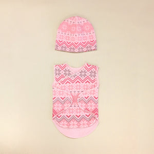 NICU Friendly Wrap Set - Pink Nordic