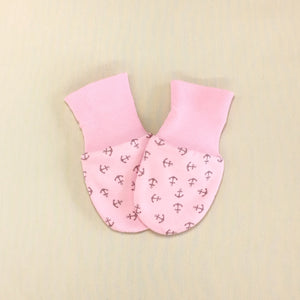 Scratch Mittens Anchors - Pink