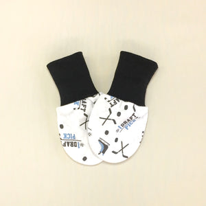 hockey baby scratch mittens