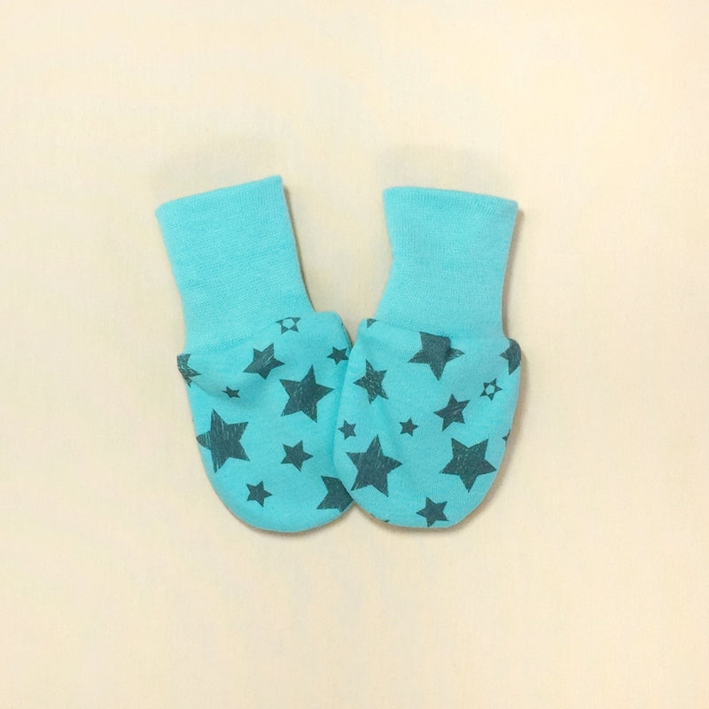 Scratch Mittens Turquoise Stars