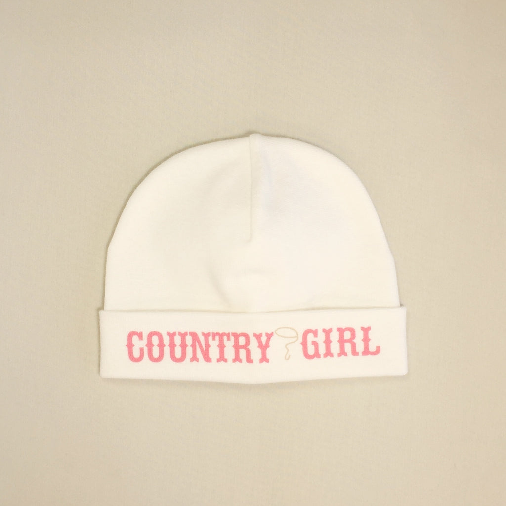 Country Girl printed baby brim hat preemie