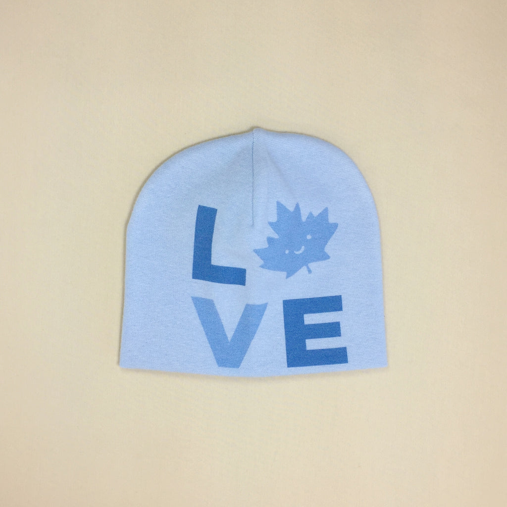Best Baby Beanie Love Canada Blue Made in Canada
