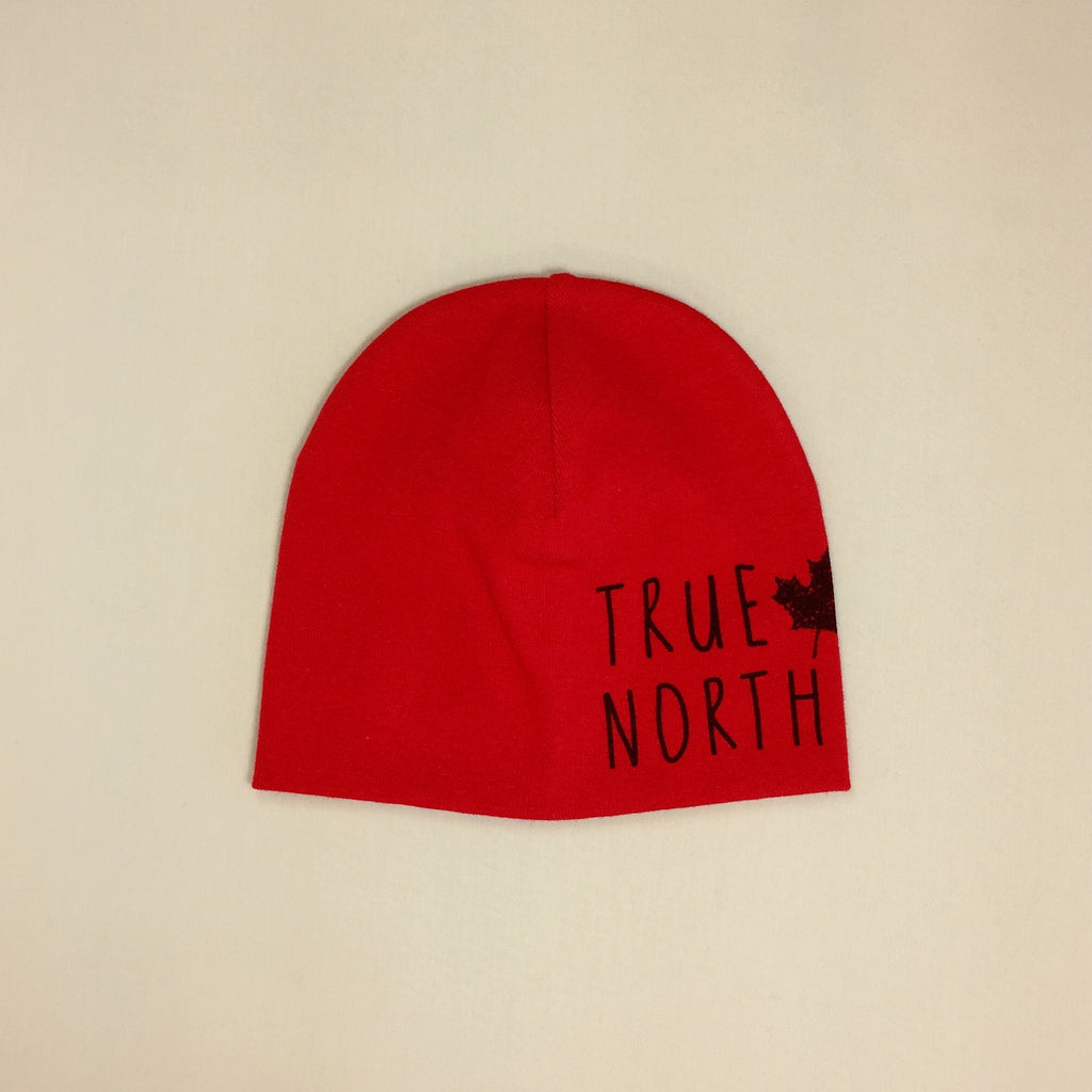 Best Baby Beanie True North Maple Leaf Red Made in Canada