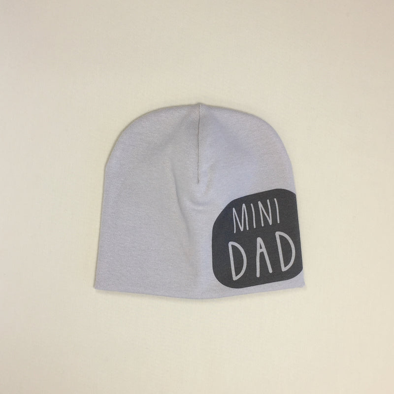 Mini Dad Best Baby Beanie Silver Made in Canada