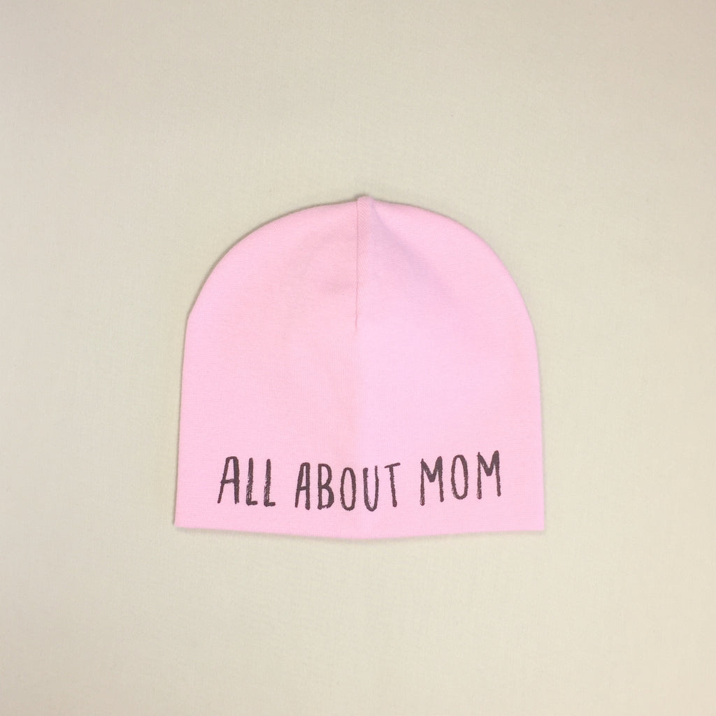 All About Mom Best Baby Beanie Pink Made in Canada