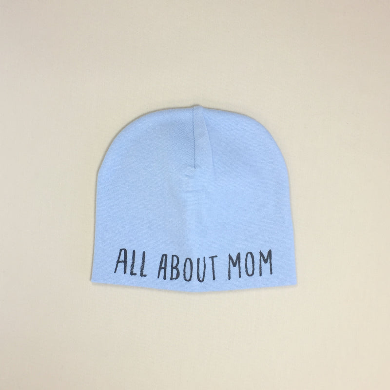 All About Mom Best Baby Beanie Blue Made in Canada
