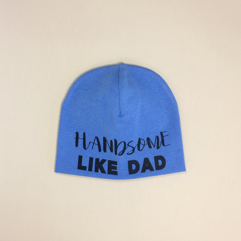 handsome like dad baby hat
