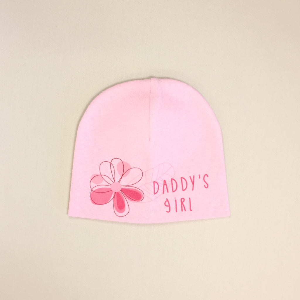 pink daddys girl baby hat