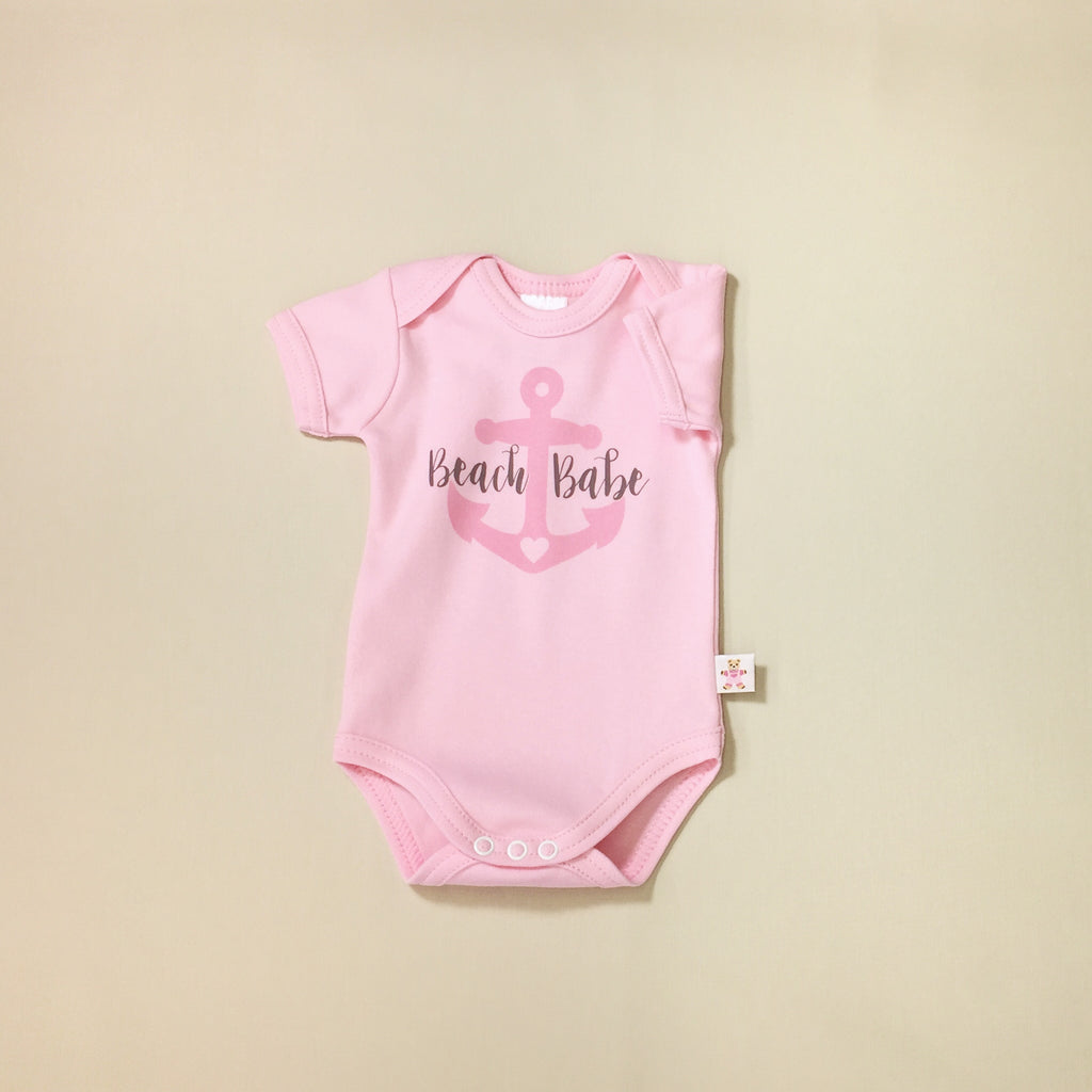 Beach babe graphic baby snap bodysuit