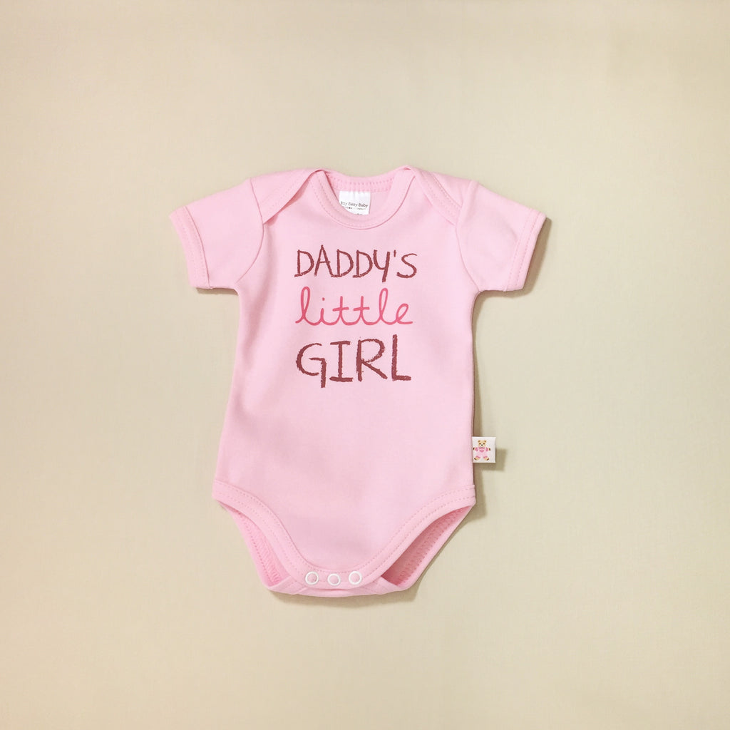 daddys little girl graphic onesie