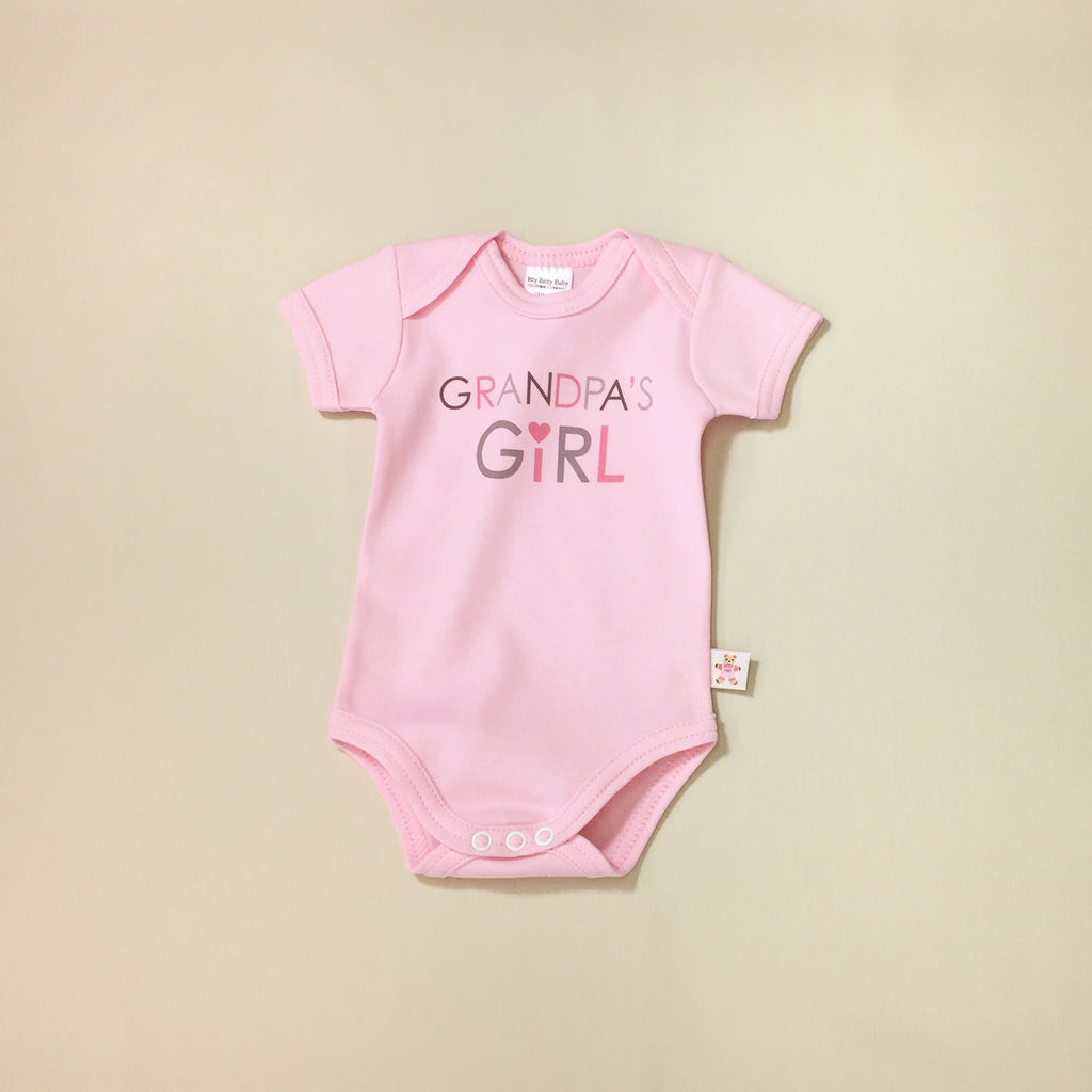 grandpas girl graphic onesie