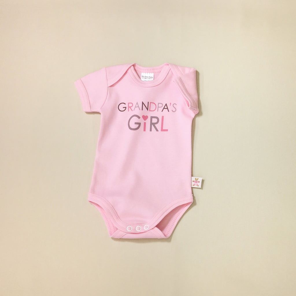 Grandpa's Girl graphic baby snap bodysuit