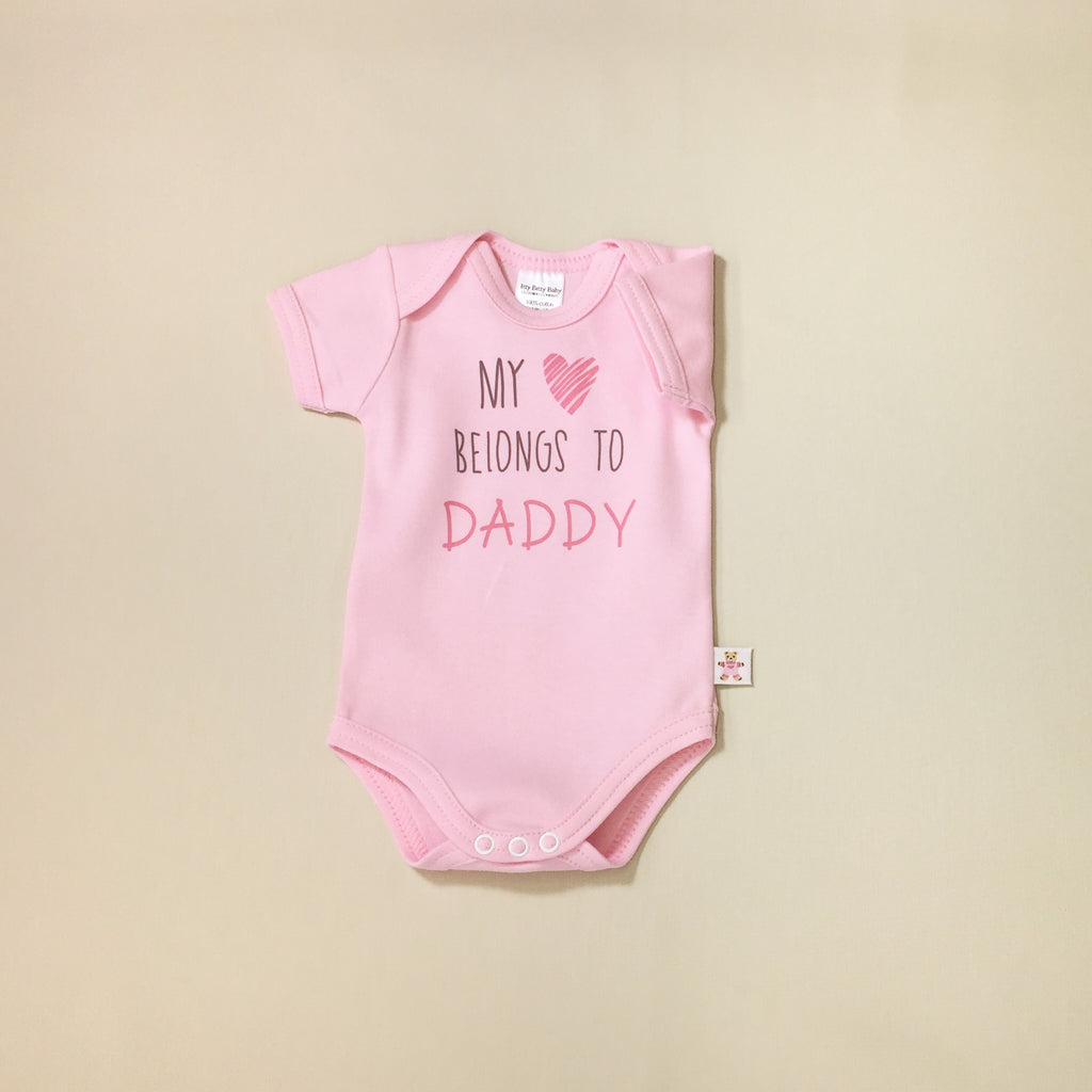 my heart belongs to daddy graphic onesie