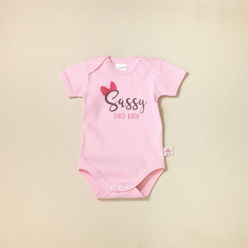 sassy since birth baby onesie