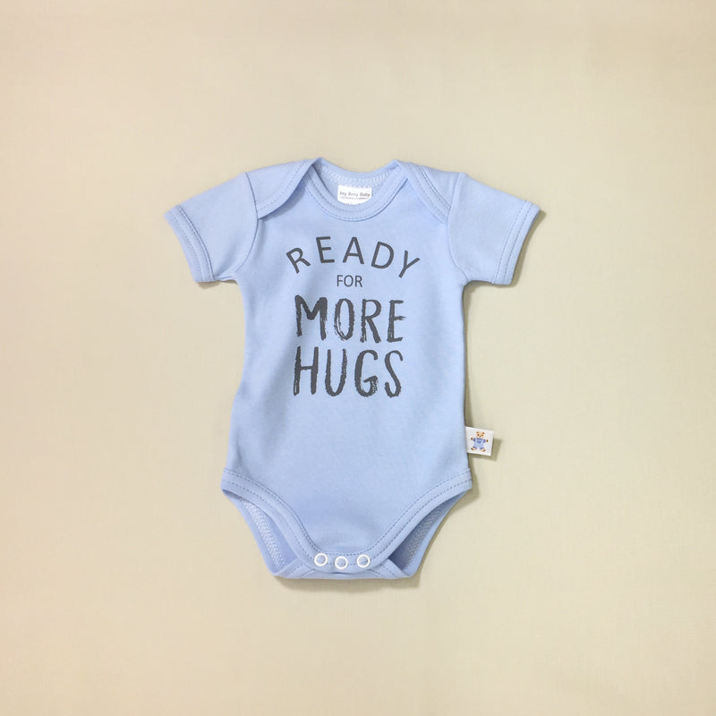 blue graphic onesie