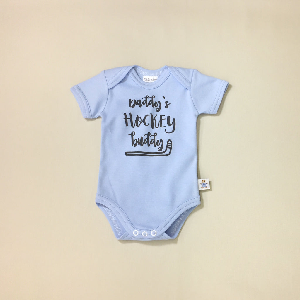 Daddy's Hockey Buddy Snap Onesie