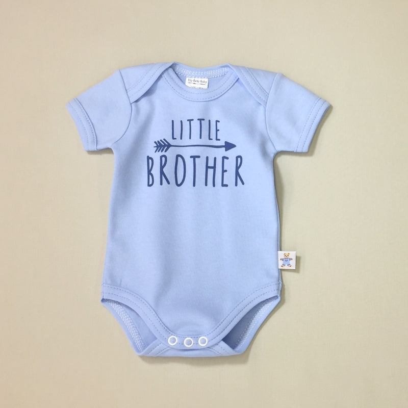 little brother onesie and big sister tee
