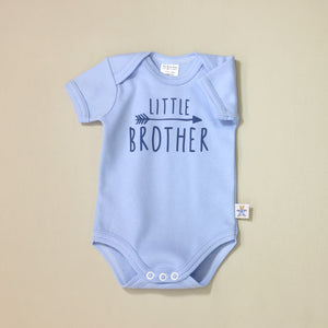 Little Brother Arrow graphic baby snap bodysuit