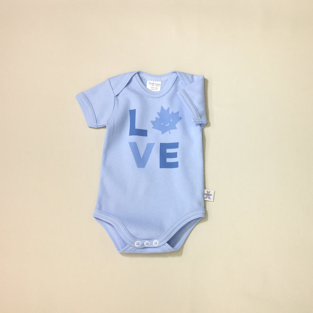 Love Canada Snap Onesie - Blue
