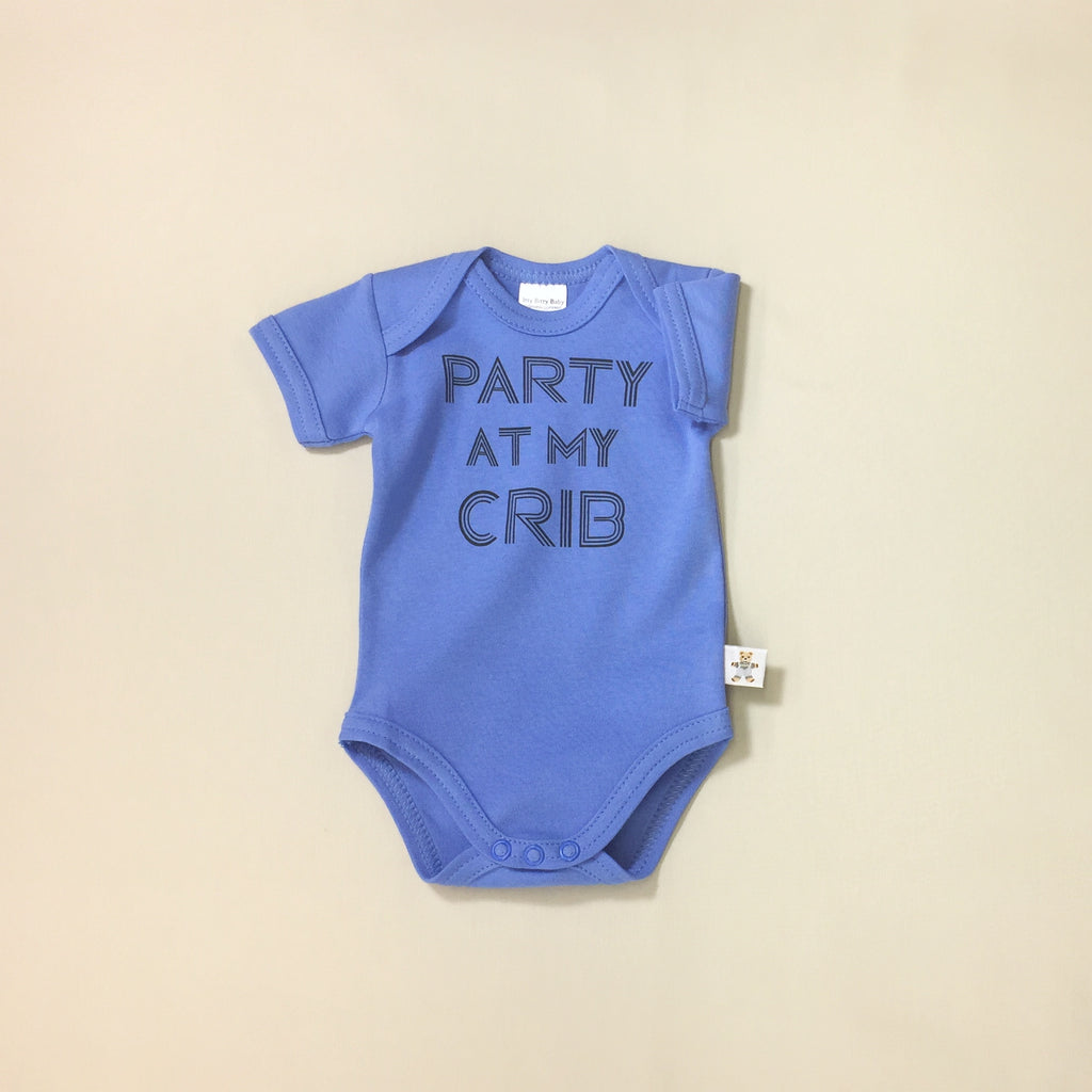 party at my crib graphic onesie