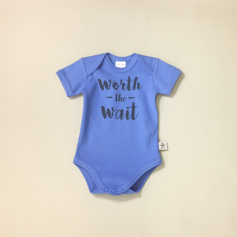 worth the wait graphic onesie