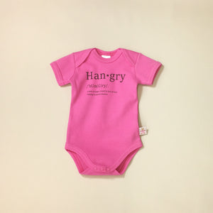 Hangry graphic baby snap bodysuit