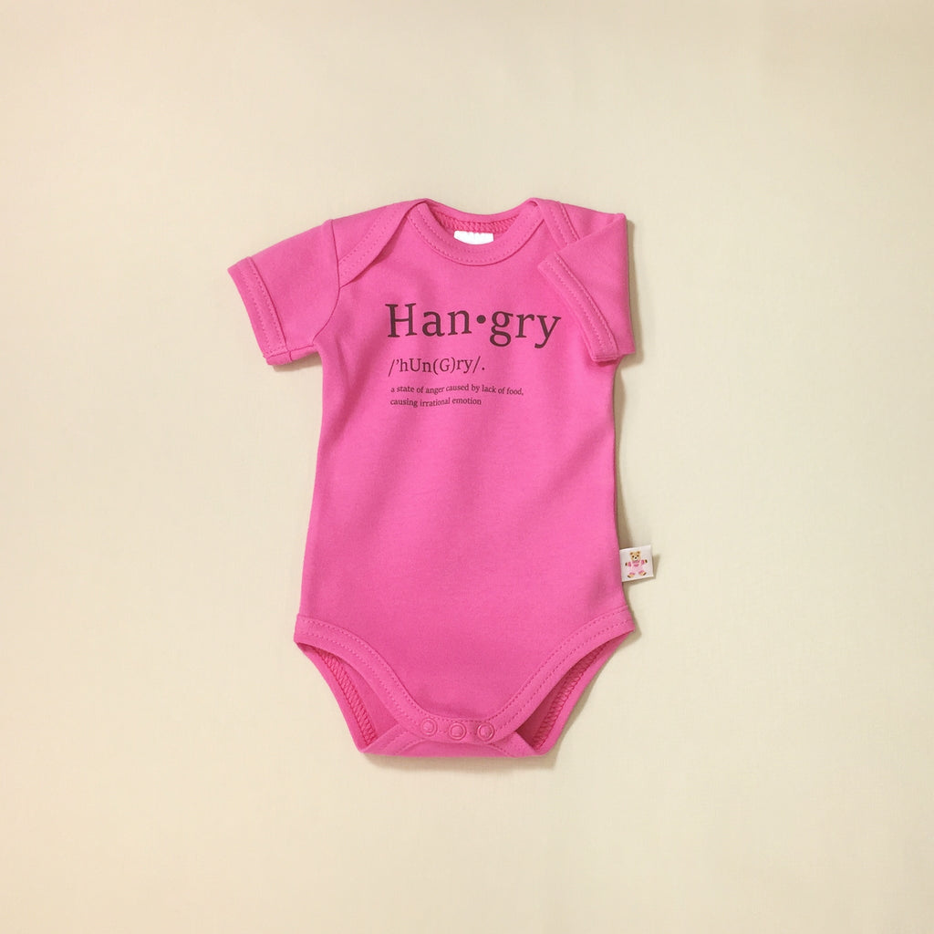 hangry graphic onesie