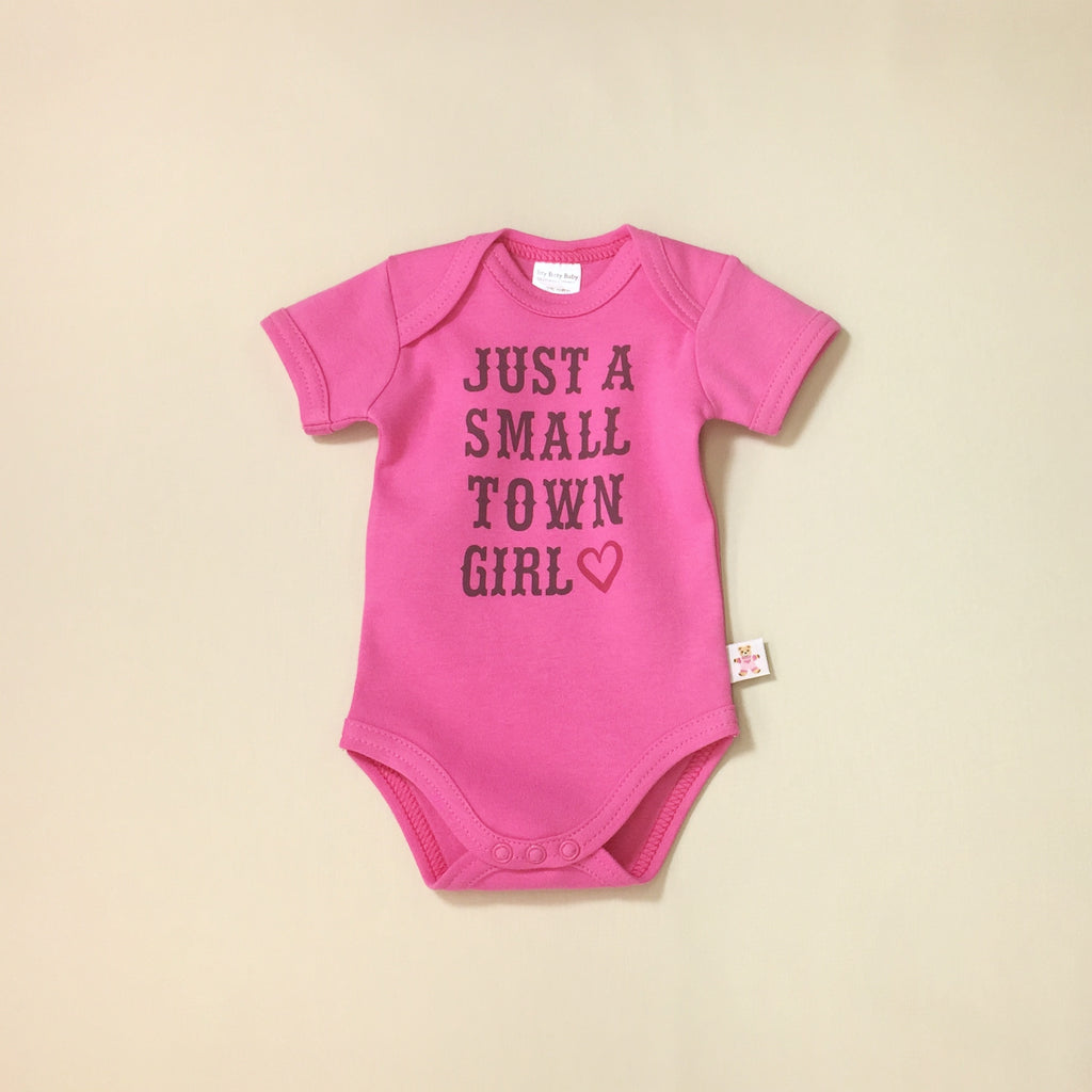Small Town Girl graphic baby snap bodysuit