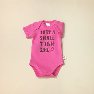 small town girl baby onesie