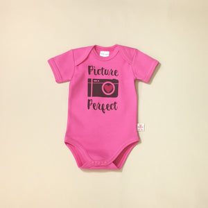 Picture Perfect graphic baby snap bodysuit