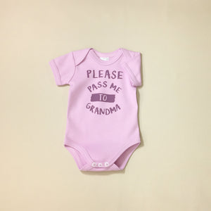 please pass me to grandma graphic onesie
