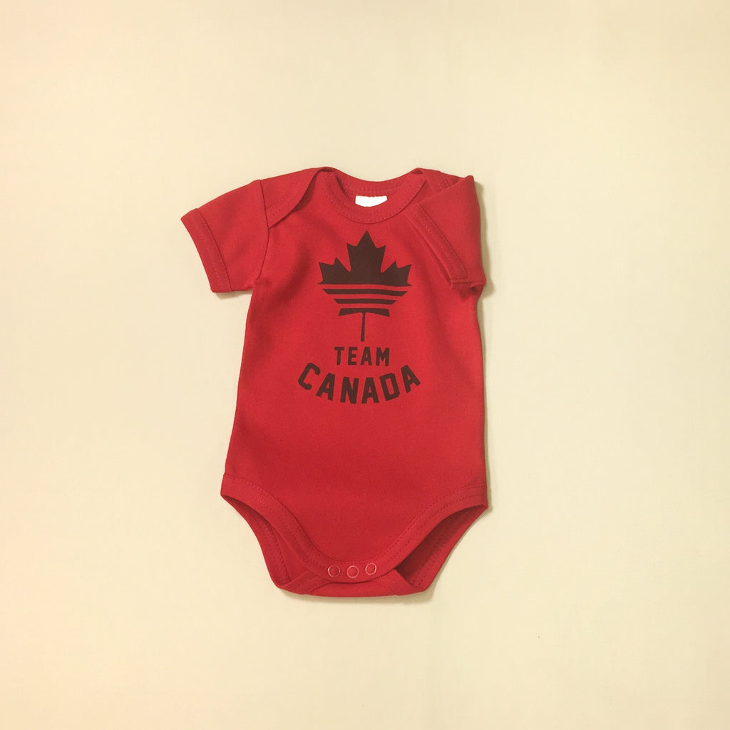 Team Canada graphic baby snap bodysuit
