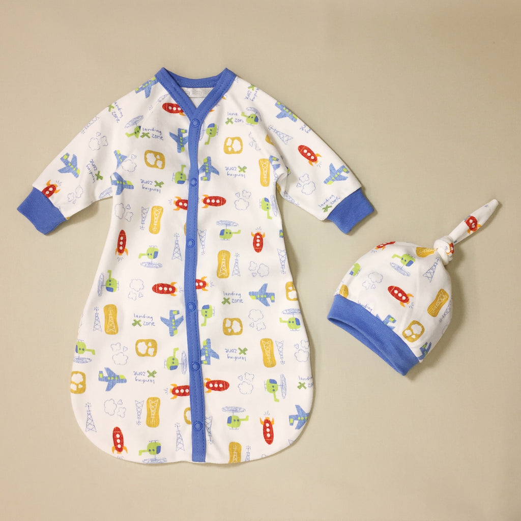 cotton sleepsack and hat set