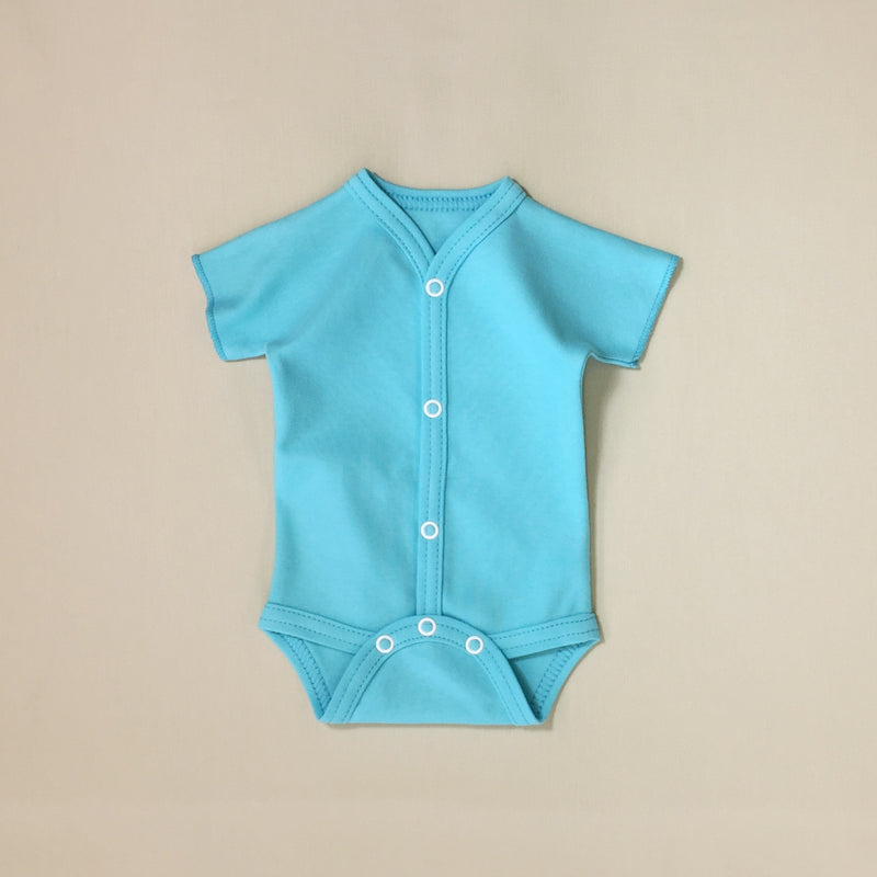 Front snap opening Turquioise baby bodysuit
