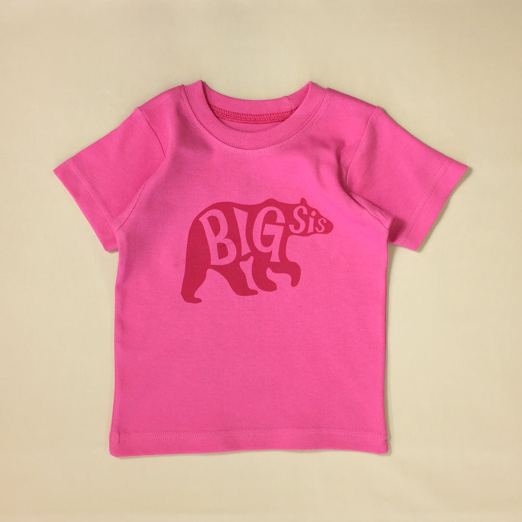 big sister bear t-shirt