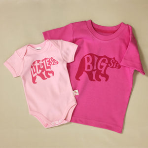 big sister tee and little sister onesie