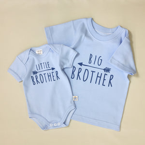Little Brother Arrow graphic baby snap bodysuit Big Brother Arrow Graphic Q-Tee