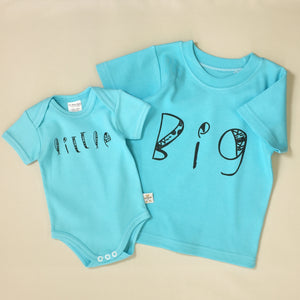 Little graphic baby snap bodysuit B I G graphic Q-Tee