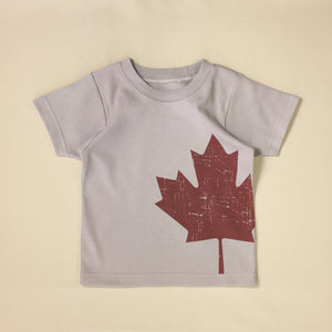 canadian maple leaf kids t-shirt