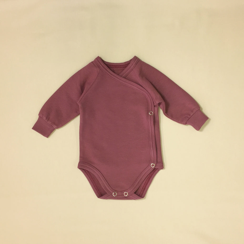 bamboo lyocell preemie baby layette set wild currant