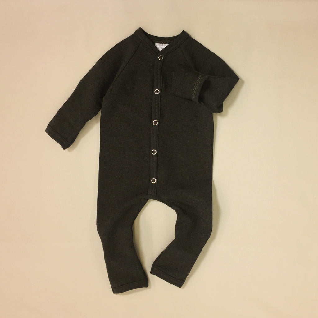 mini boo bamboo preemie baby playsuit woodland