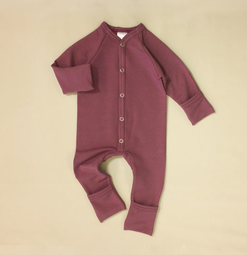 Bamboo Playsuit - Wild Currant