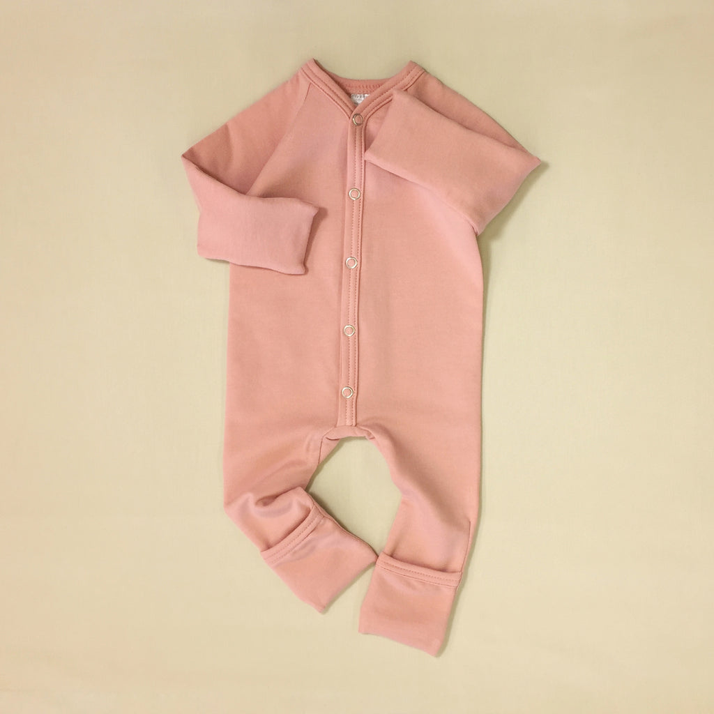 Bamboo playsuit in Barely Blush