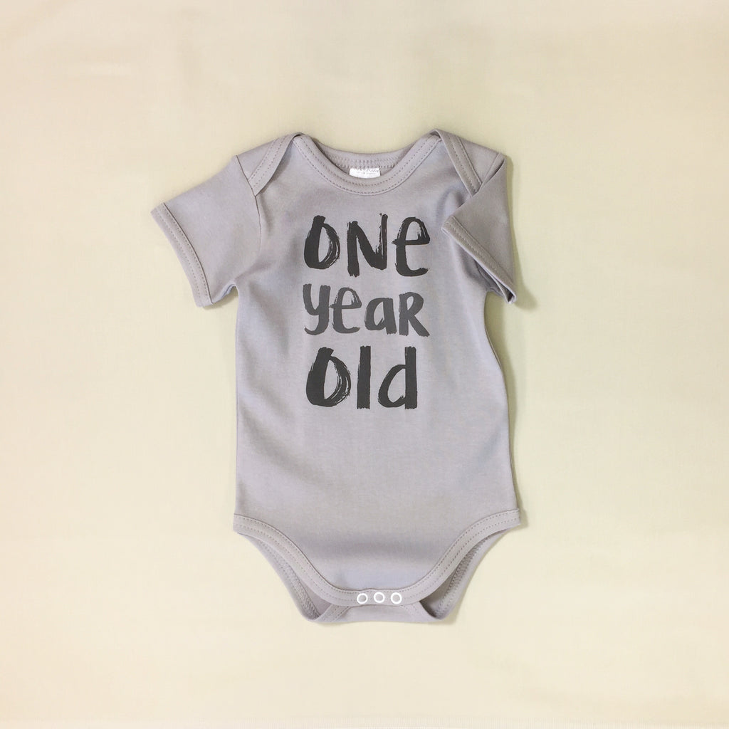 one year old birthday graphic onesie